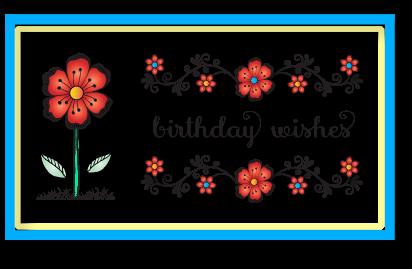 FlowersVinesBirthdaySet
